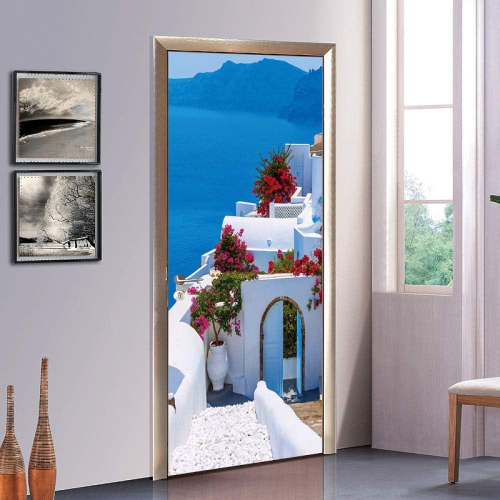 3D Puerta Pegatinas Estilo Griego Murales Decorativos Bricolaje ...