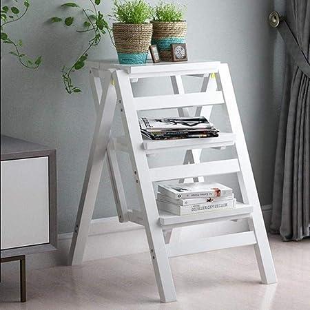 Taburete Escalera Escalera del Taburete multifunción Engrosamiento Taburete Plegable de Doble Uso Escaleras Presidente Ascendente Stool 42 × 55 × 68cm Las escaleras de Tijera (Color : White): Amazon.es: Hogar