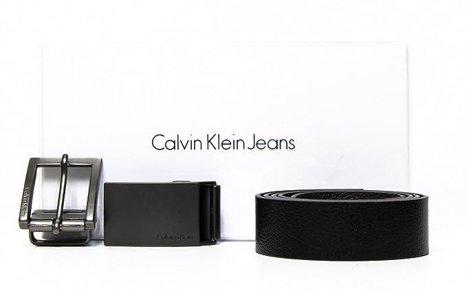size 40 13453 3d11b CALVIN KLEIN ACCESSORI Norman Gift SET Belt, Cintura Uomo ...