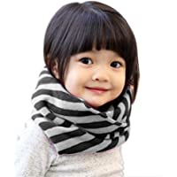 Butterme - Bufanda circular para chica joven, bufanda de rayas clásicas, bufanda anillo, bufanda de invierno, bufanda…