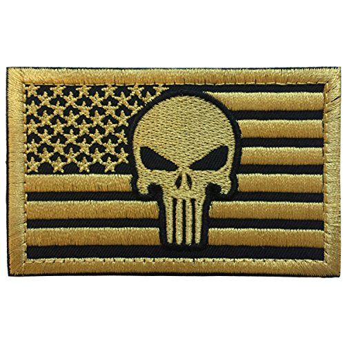 an Flag Skull Military Tactical Morale Badge Patch 3.15