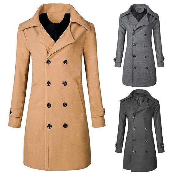 bc500e365882 Herren Winter langer Mantel,Moonuy Männer Herbst   Winter Warme Jacke Mantel  Outwear Schlanke Lange