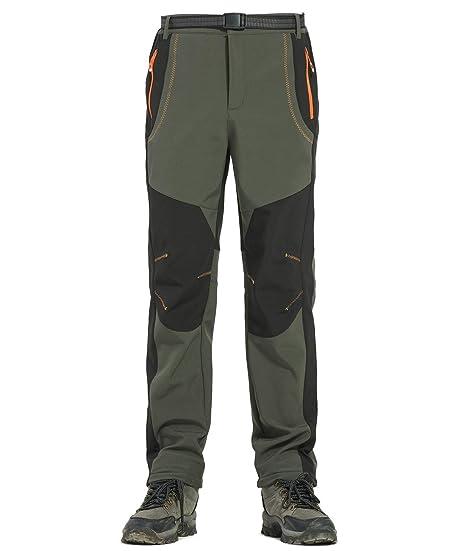 Lachi Pantalon de Randonnée Homme Polaire Softshell Imperméable Coupe-Vent  Pluie Neige Ski en Plein Air pour Automne Hiver  Amazon.fr  Vêtements et ... 77fff83da5a