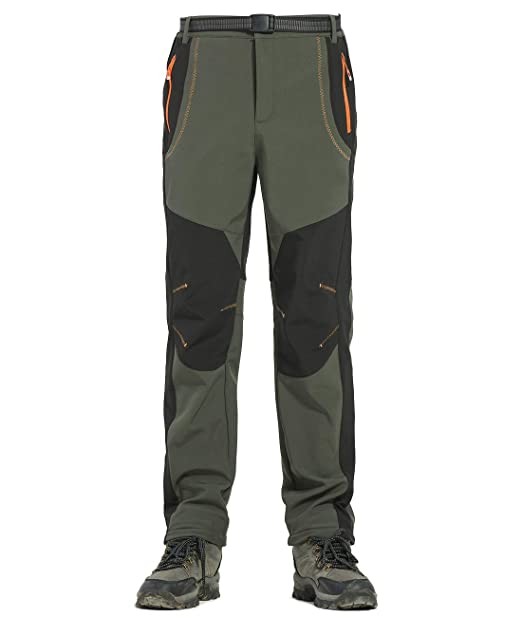 Lachi Pantalones Trekking Hombres Softshell Pantalón Chandals Invierno Impermeable de Escalada Senderismo Esqui Snowboard Tacticos Montaña Caza Moto ...