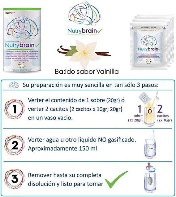 Zafire Nutrybrain Batido Vainilla. Complemento nutricional ...