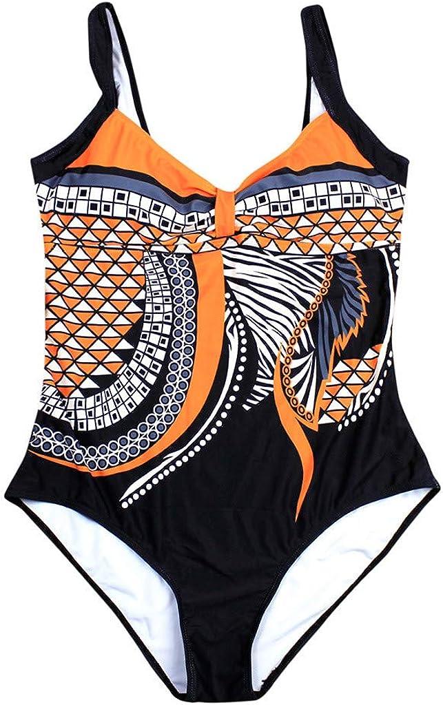 refulgence Womens One Piece Swimsuit Athletic Training Print Swimwear Vintage Bathing Suit