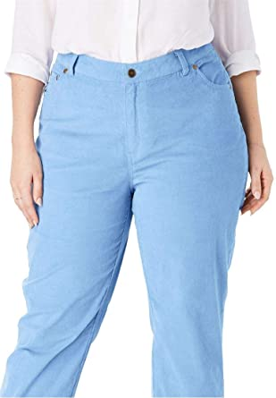 9d4391c4d9a Woman Within Plus Size Corduroy Straight Leg Stretch Pant at Amazon ...