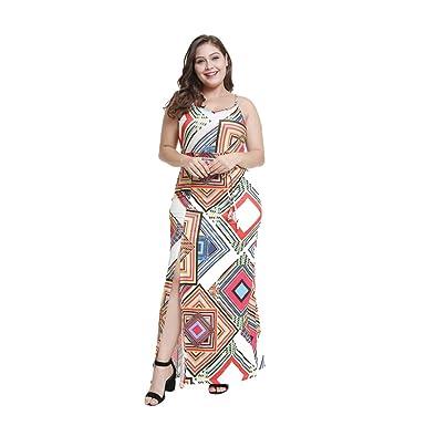 Vestido Largo Mujer Talla Grande Escotado por Detrás Falda Larga ...