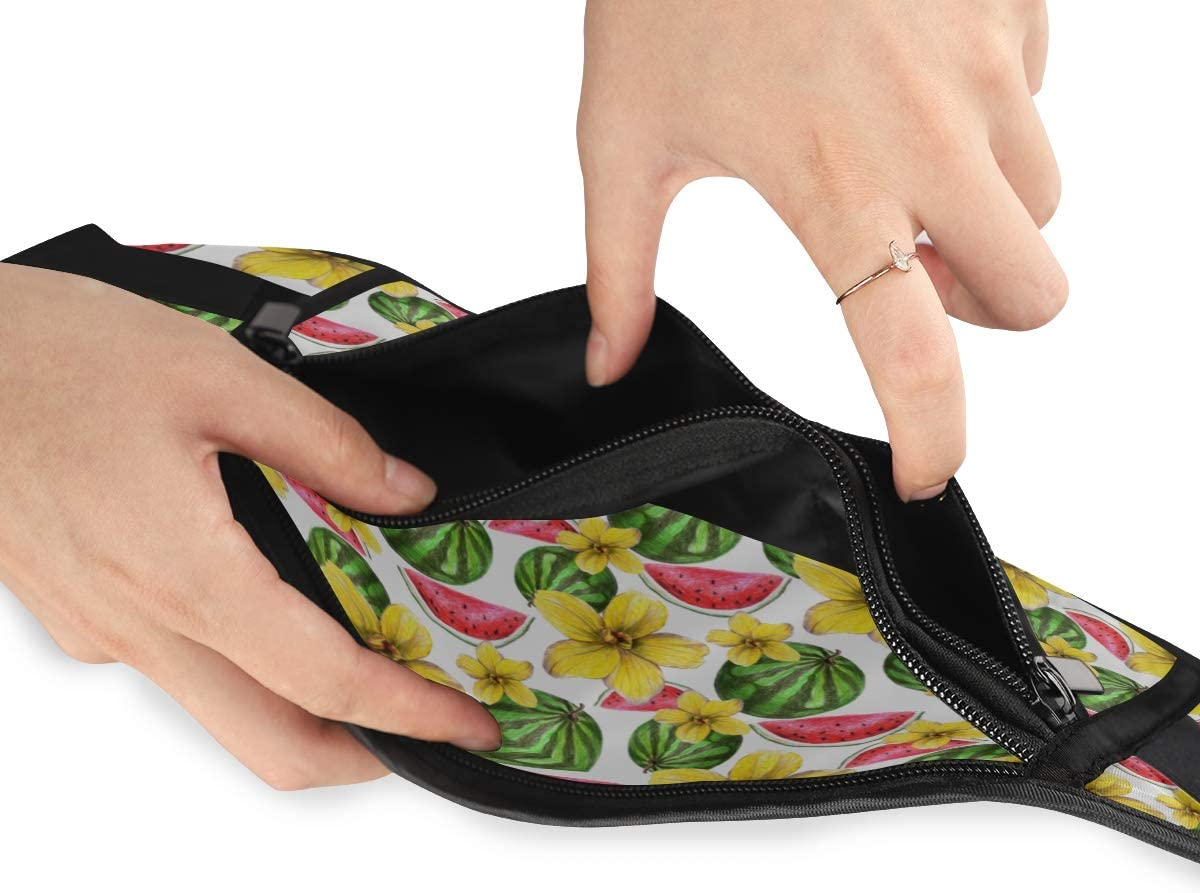 Travel Waist Pack,travel Pocket With Adjustable Belt Peaches Peach Flowers Drawn Colored Running Lumbar Pack For Travel Outdoor Sports Walking