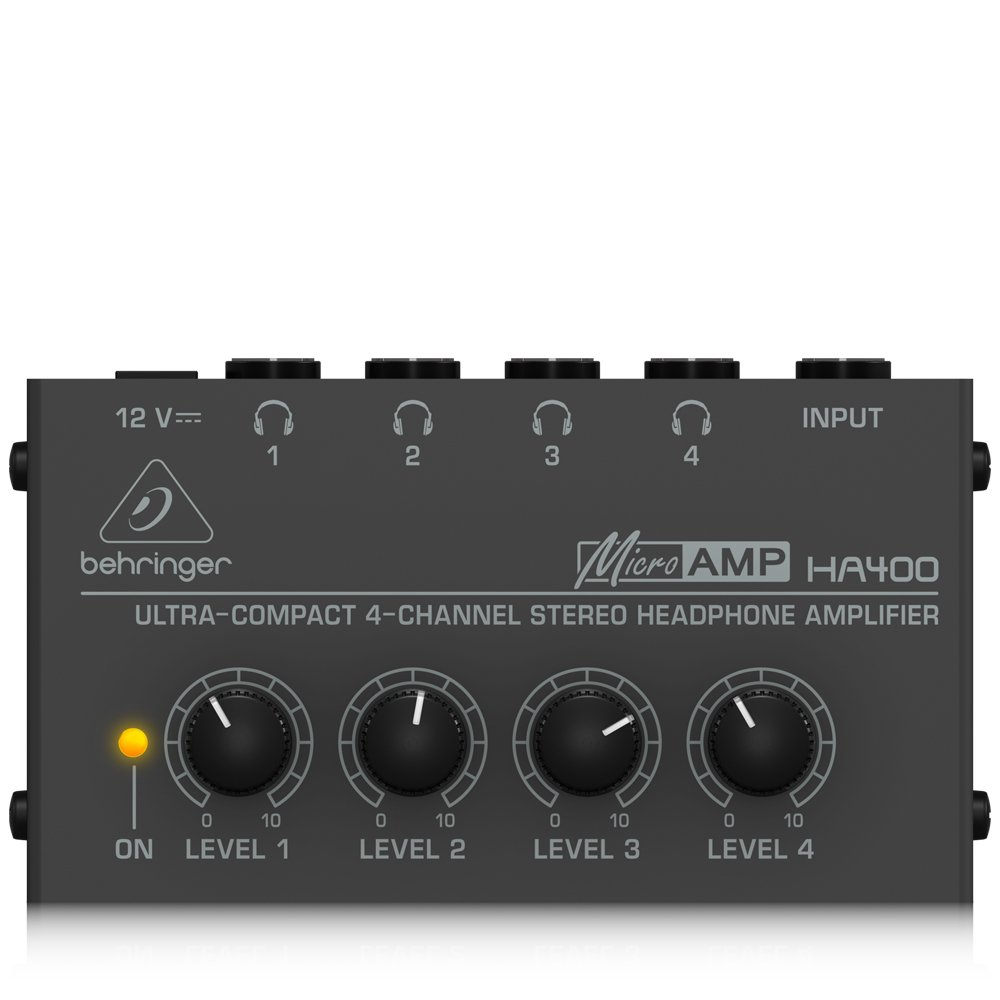 Behringer Microamp Ha400 Ultra Compact 4 Channel Stereo Three Audio Splitter Headphone Amplifier Musical Instruments