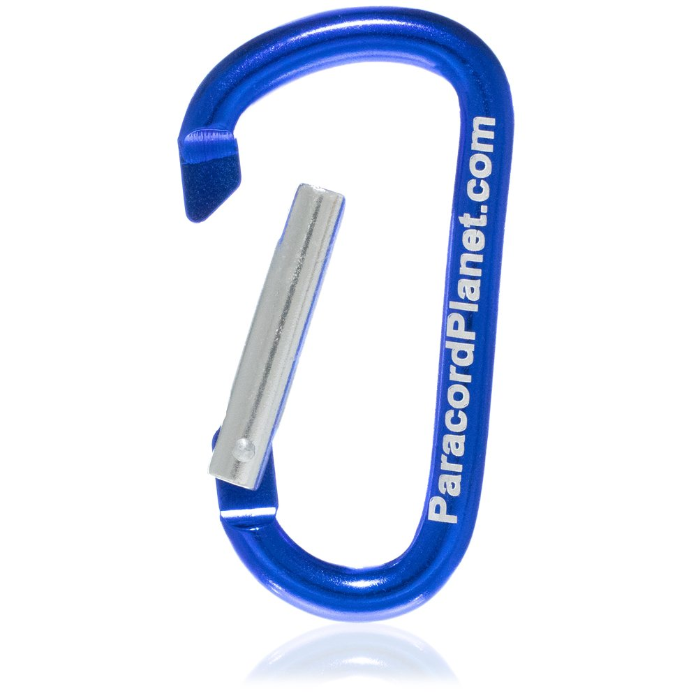 Keychain Hiking and More Climbing Outdoor Backpacking PARACORD PLANET Aluminum Interlocking D Shaped Carabiner