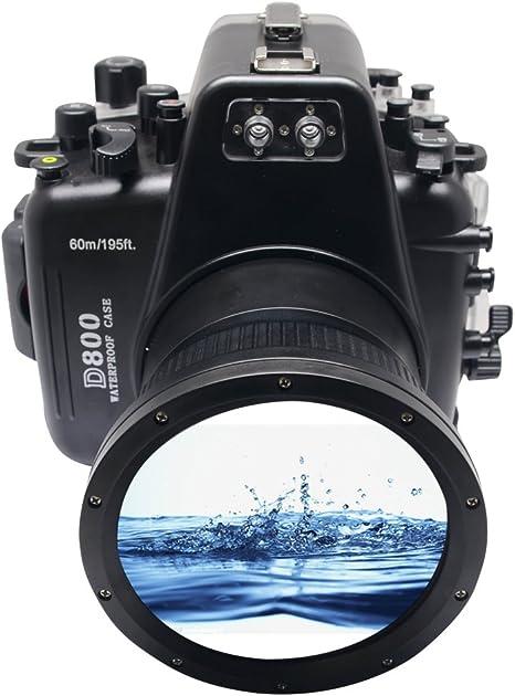 Meikon 60 m/195ft cámara bajo el agua carcasa Funda impermeable ...