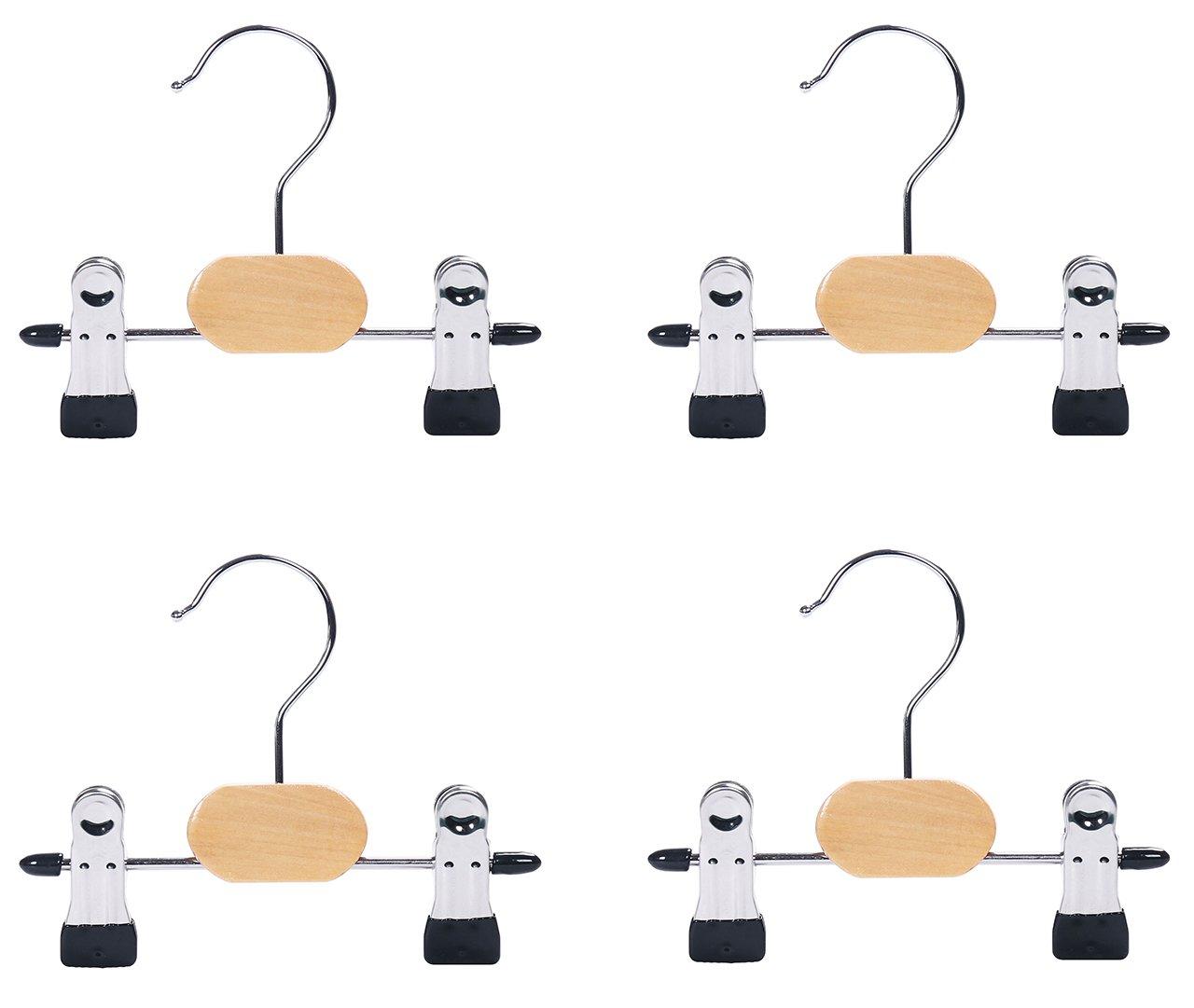 Adjustable 6'' Swivel Boot Hanger Clips Closet Organizer, Set of 4