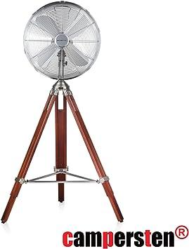 Diseño retro Ventilador de pie, con madera trípode | ligeras ...