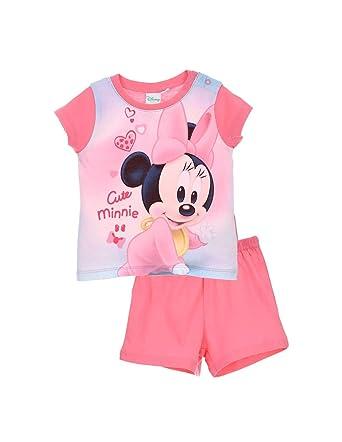 455256f2eb190 Minnie Pyjama Court Coton bébé Fille Rose de 9 à 24mois: Amazon.fr:  Vêtements et accessoires