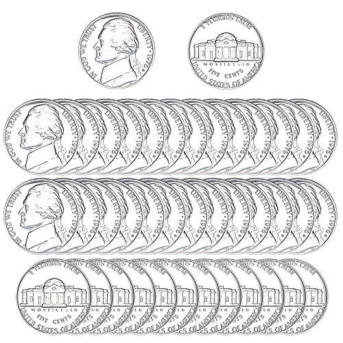 (1976 S Jefferson Nickel 40 Coin Roll Gem Deep Cameo Proof)