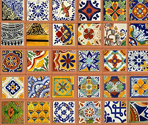 Spoonflower talavera tile mexican fabric talavera mexican Cheap mexican tile