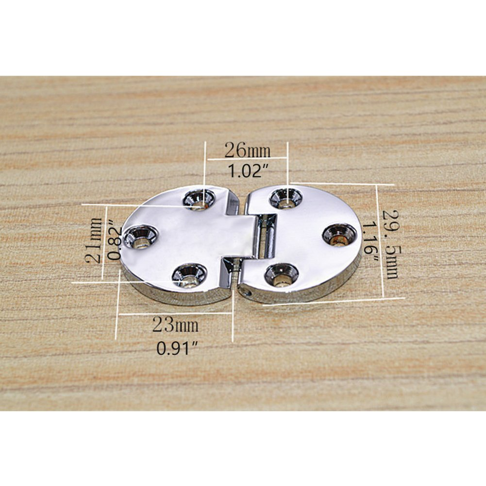LICTOP Sewing Machine Tray Table Hinge Gold Folding Flip Top Zinc Alloy Spring Hinges 2 Pcs