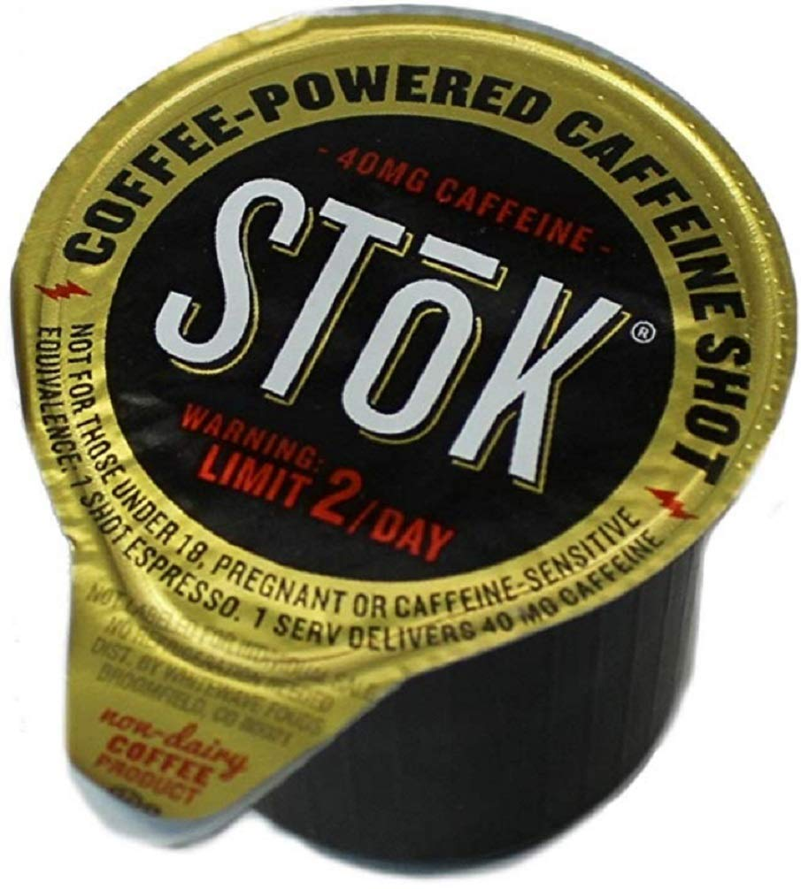 SToK Caffeinated Black Unsweetened Cold Brew Coffee Shots (Unsweetened, 264 ct) by SToK
