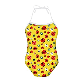 6466623e16 ThiKin Floral Insect Bathing Suits Girls One Piece Bikini Size 2 4 6 ...
