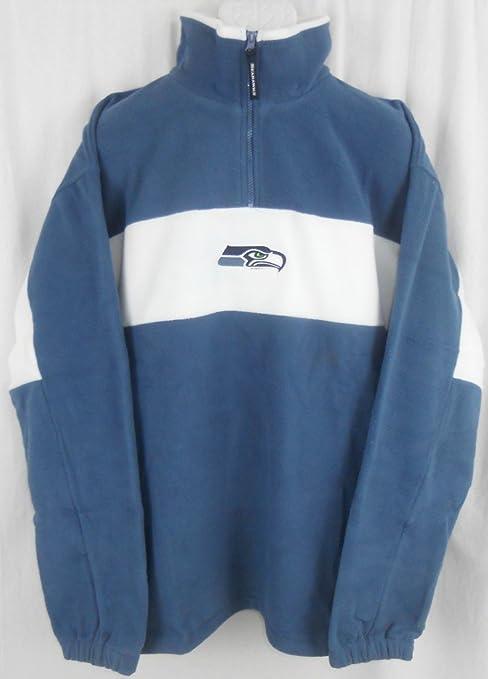 Seattle Seahawks NFL Team Apparel 1 4 Zip Fleece Pullover Big   Tall Sizes ( 1c9b9b4e8