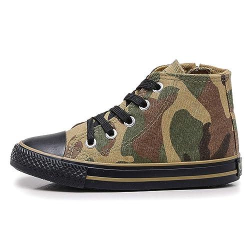 Zapatos de Lona para niños Zapatillas de Deporte Respirables para niños Zapatos Deportivos de Camuflaje para niñas: Amazon.es: Zapatos y complementos