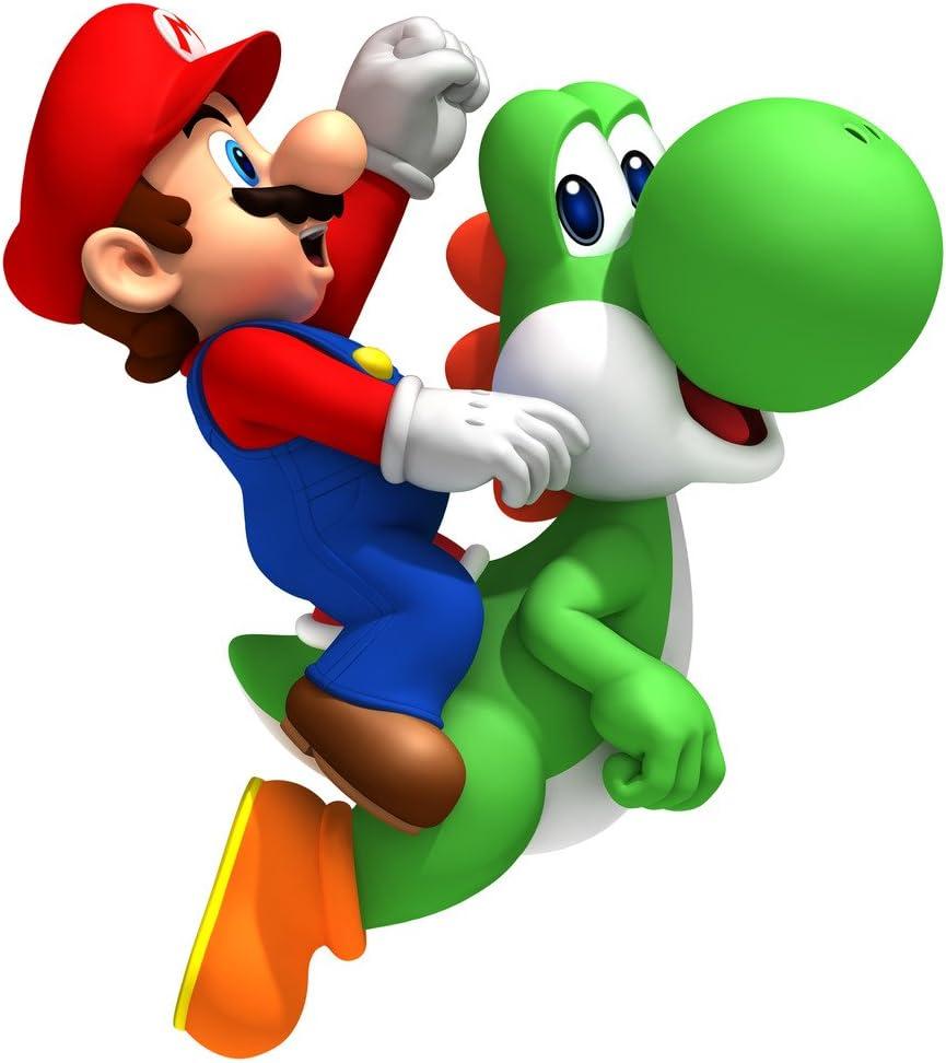 1 4 Sheet Mario Brothers Mario Riding Yoshi Edible Image Cake Cupcake Topper Amazon Ca Home Kitchen