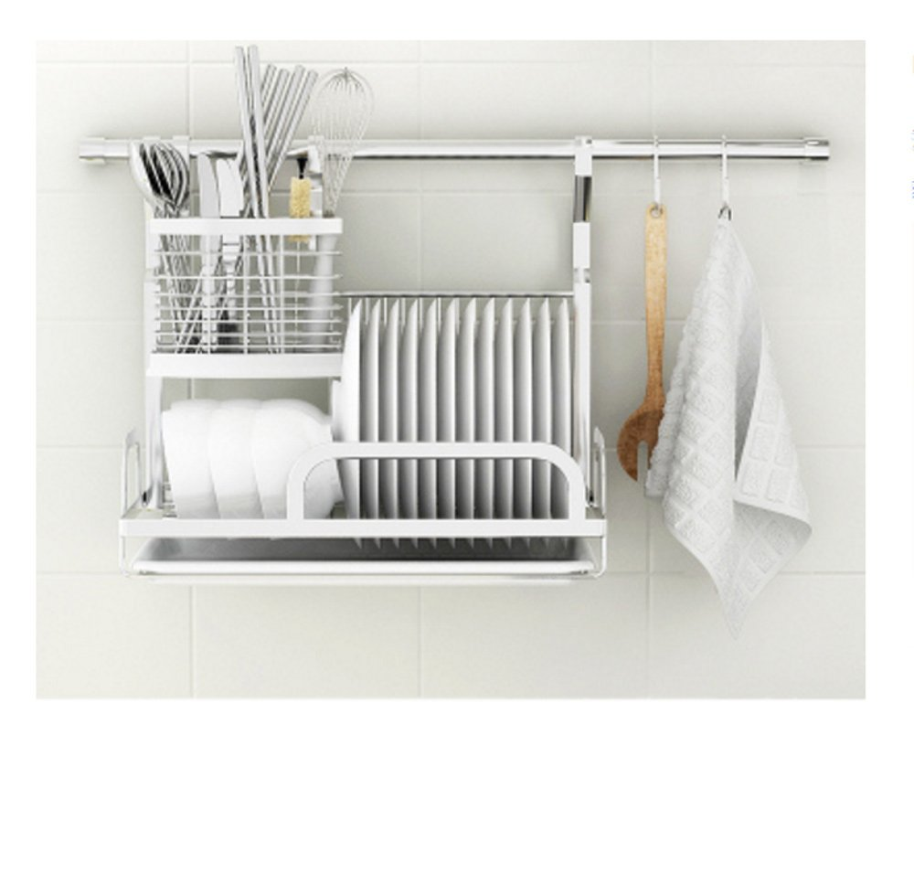 Hyun times Kitchen Pendant 304 Stainless Steel Hanging Rod Kitchen Utensils Dishui Kitchen And Toilet Rack Racks