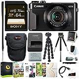 Canon PowerShot G7X Mark II Digital Camera with Corel Software & 64GB Bundle