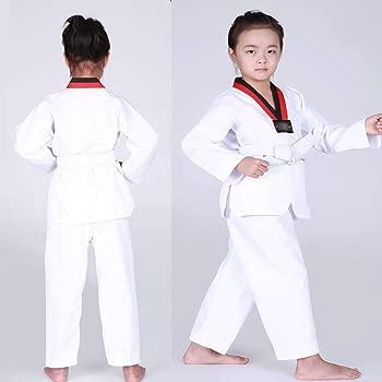 XFentech Unisexo Traje de Taekwondo Artes Marciales Kung Fu ...