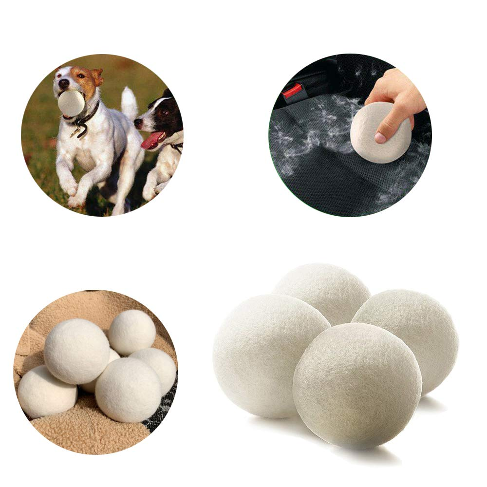 Wool Dryer Balls - iBayx Reusable Tumble Dryer Ball,100% Natural Eco-Friendly Tumble Dryer Sheets, Reduce Wrinkles and Shorten Drying Time Naturally, 6-7cm (6 Packs)