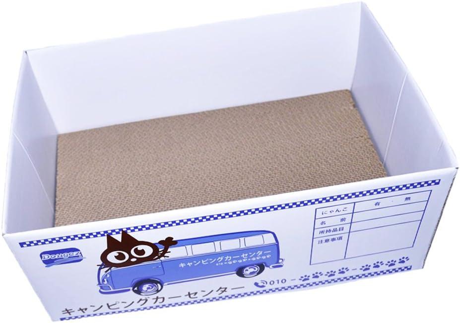 PETSOLA Caja De Cartón Rayado Caja De Cartón para Mascotas Nido Cama Gato Juguete De Rascar - Estilo 2: Amazon.es: Hogar