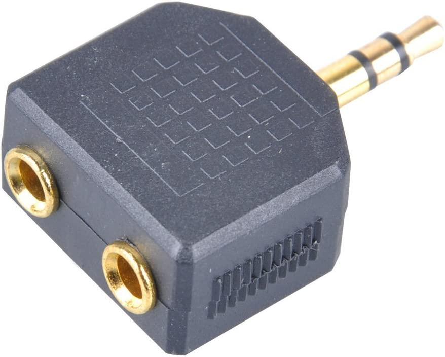 Dual Ports - Gold Plated Generic 3.5mm Mono Plug Male to Female