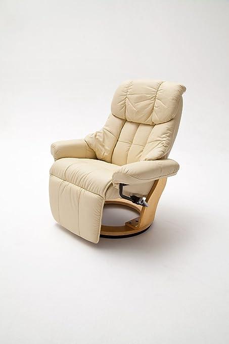 Dreams4Home sillones de piel Lina salón sillón relajante ...