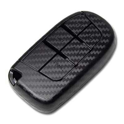 TANGSEN Smart Key Fob Case for Chrysler 200 300 Dodge Challenger Charger Dart Jeep Cherokee Compass Grand Cherokee SRT Hellcat TRACKHAWK 2 3 4 5 Button Keyless Entry Remote Cover Plastic Carbon Fiber: Automotive