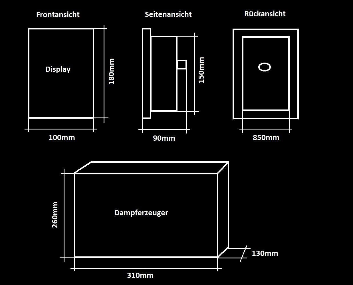 Dampfgenerator Touchscreen 2,8 KW Dampfdusche Dampfbad LXW-MK117U