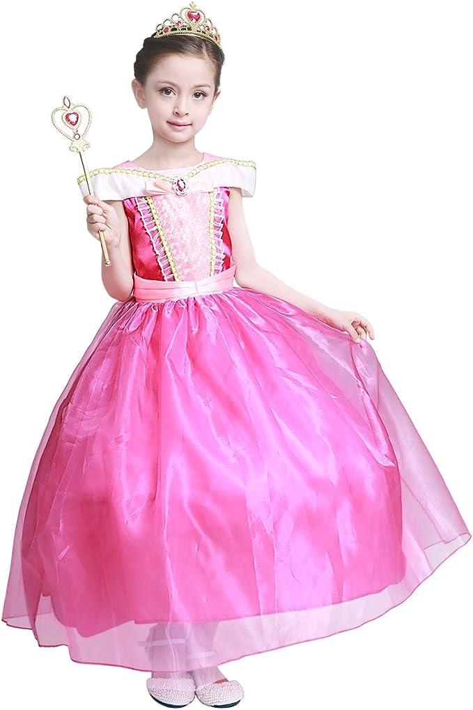 HAWEE Disfraz de Princesa Aurora Vestido para Halloween, para ...