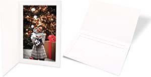 Golden State Art,Cardboard Photo Folder for a 4x6 Photo - White Stock - Pack of 50 ,Special Events: Graduation, Wedding, Baby Showers (Cardboard/Paper Frames)