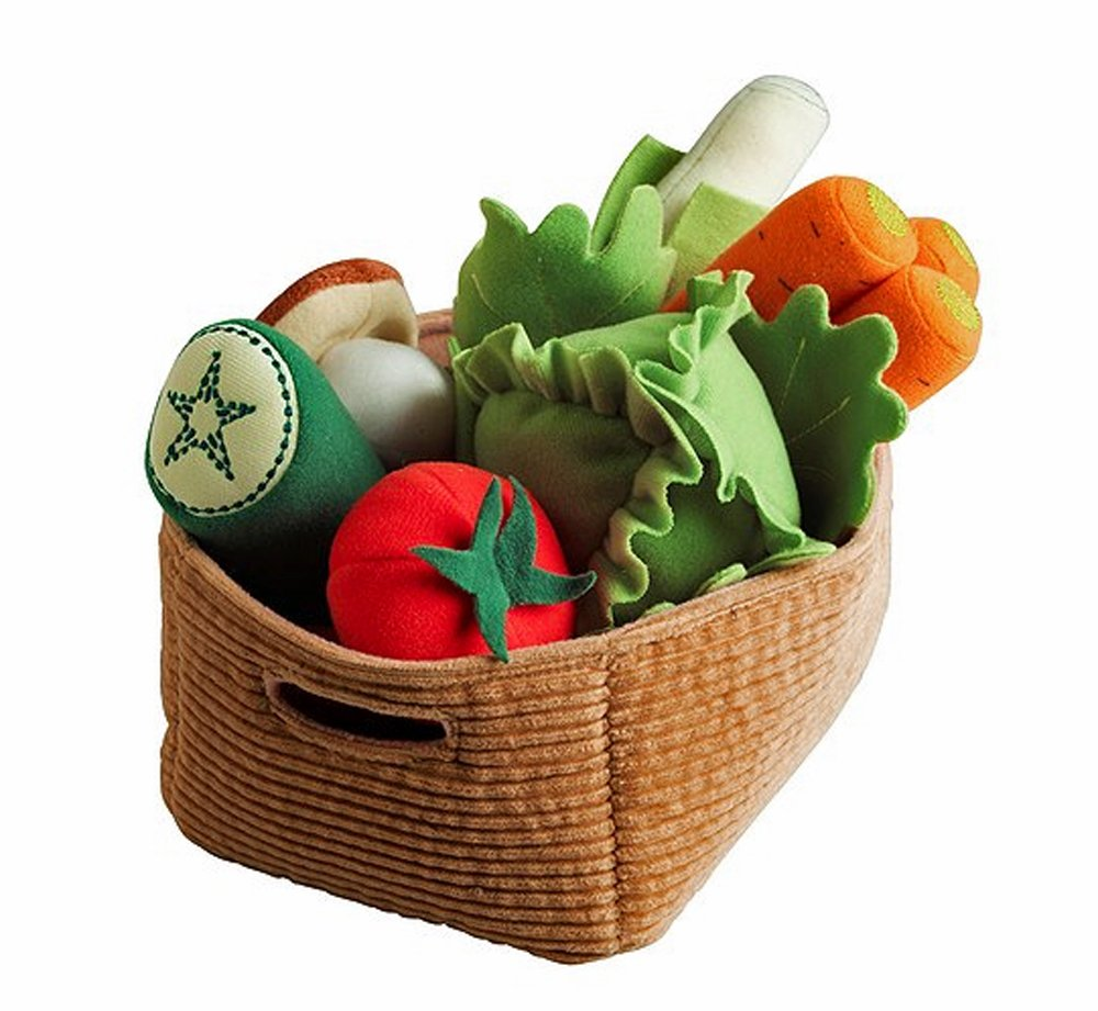 Ikea Duktig Play Food Set Soft Toy Kids Children 14 Pc Vegetables (Original Version)