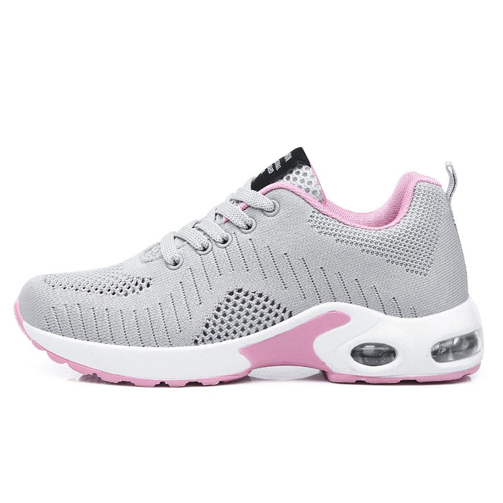 Yililay Breathable Women Sneakers Ladies Low Top Athletic Trainers Casual Running Shoes Lace Up Sports Shoes
