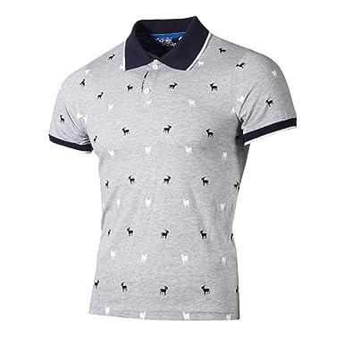 BOLAWOO Camisas De Polo Hombres Camisetas con Cuello En Mode De ...