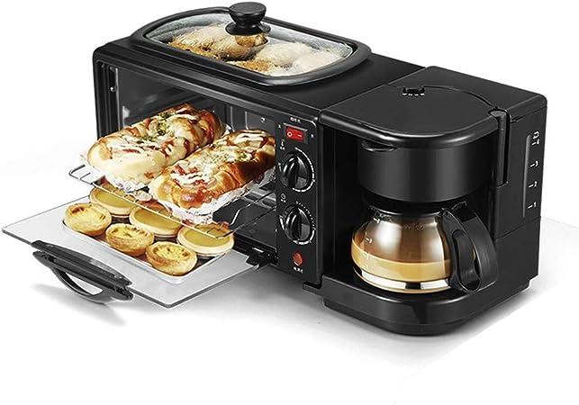 3-en-1 Tamaño de la familia eléctrico desayuno máquina, cafetera, plancha, horno tostador: Amazon.es: Hogar