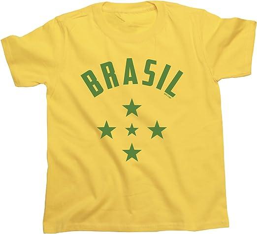 buzz shirts NIÑOS O NIÑAS Camiseta Brazil 1960`S Stars Copa Mundial 2018 FÚTBOL Kids Patriotic Brasil Retro: Amazon.es: Ropa y accesorios