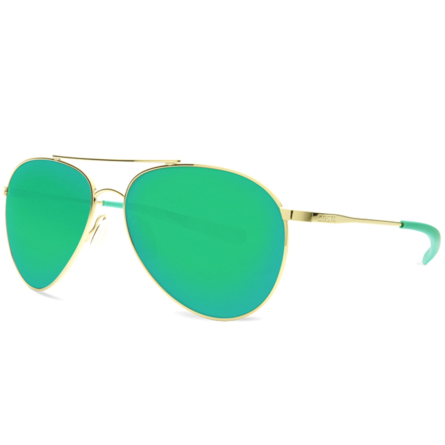 Costa Del Mar Piper Sunglasses Shiny Gold/Green Mirror 580Plastic