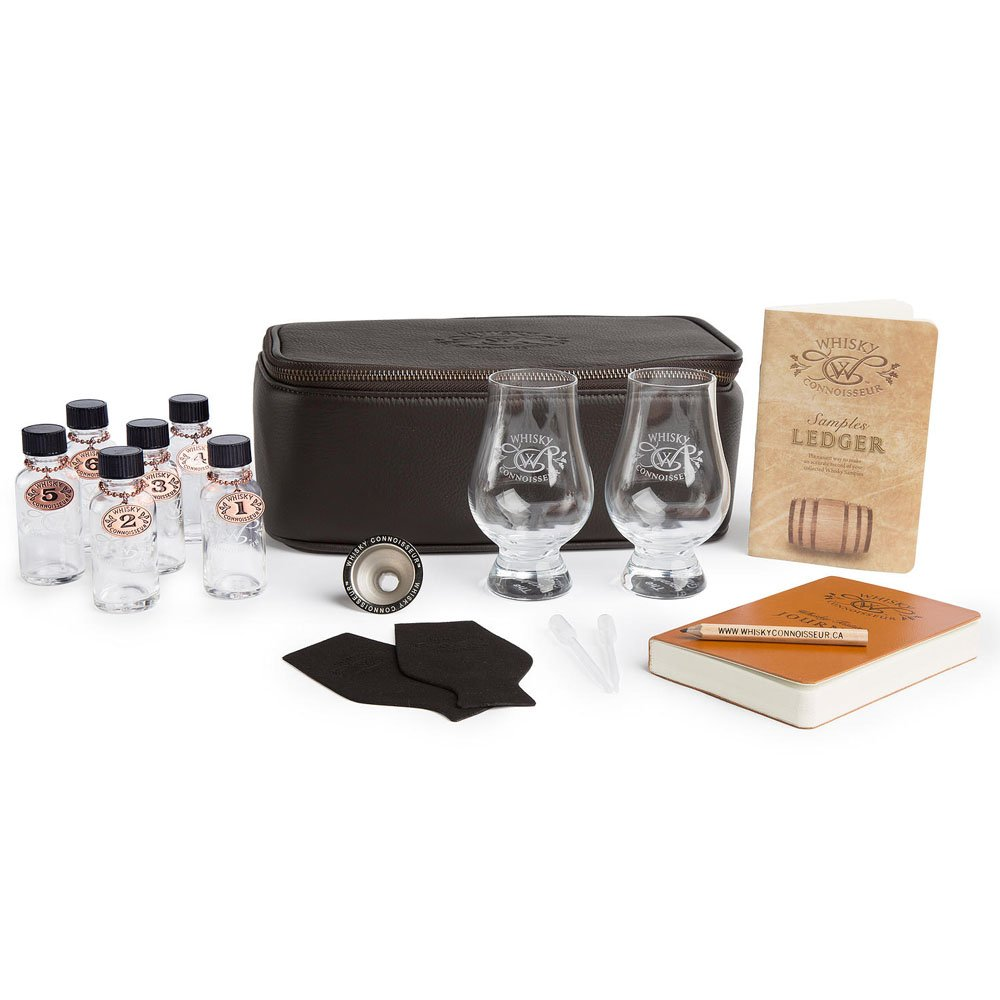 Whisky Connoisseur Deluxe Leather Whisky Travel Kit. Never Leave A Good Whisky Behind. by Whisky Connoisseur