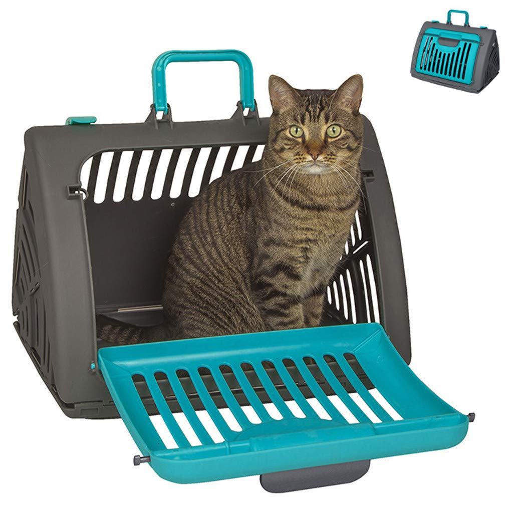 RTYou Cat Carrier Foldable Travel Cat Carrier - Front Door Plastic Collapsible Carrier 45x35x33cm【Ship from USA 】