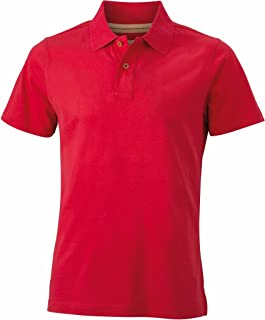 James & Nicholson Slim-Fitting Stylish Polo Shirt in Vintage Look