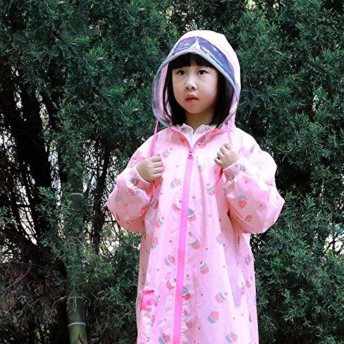 Casual Imperméable Enfants Outdoor B Poncho Longues Fashion L'air Manches Capuchon Perméable De Large À Imprimé Taille Veste Manteau Grande Cape Pluie wTXq6