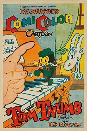 Tom Thumb Vintage Poster (artist: Iwerks) USA c. 1936 (9x12 Art Print, Wall Decor Travel Poster)