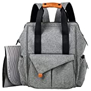 Vipont Large Size Baby Diaper Bag – Multifunctional Baby Diaper Bag – Waterproof Insulated Diaper Bag – Changing Pad Included – Large Size Nappy – 15 Functional Pockets with Foam Breathable Mesh